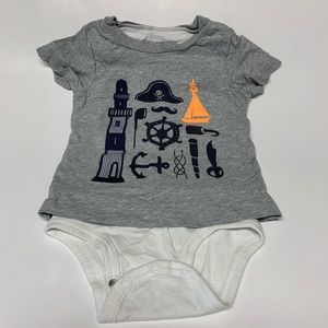 Carters gray T-shirt with attached onesie